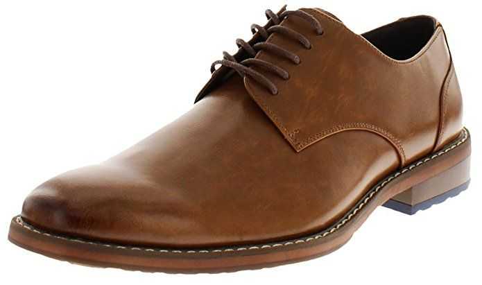 Van Heusen Mens Garrett Oxford Business Dress Shoe, COGNAC | Dress ...