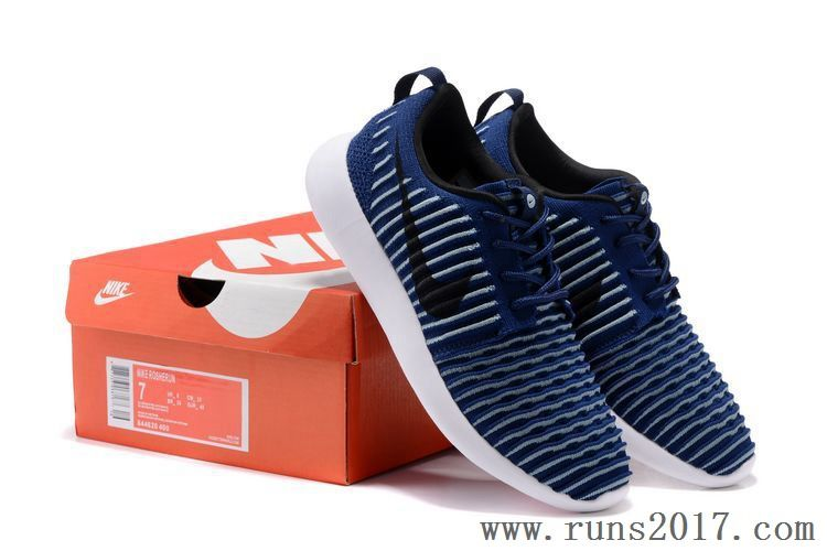 size 40 8ef77 2c2b8 Nike Flyknit Roshe Run Two Dark Blue White