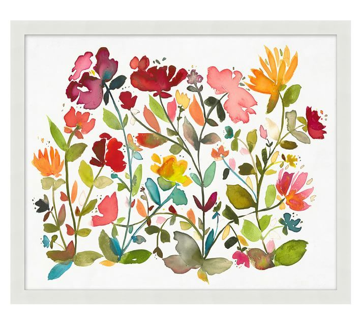 Oversize Floral Pattern Wall Art