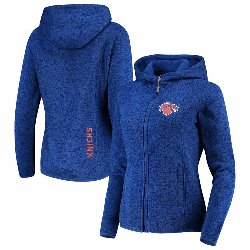 New York Knicks G-III 4Her by Carl Banks Women s Kick Off Fleece Full-Zip  Jacket - Blue e9607d60e6