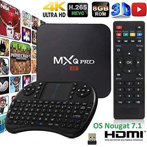 MXQ Pro HDTV Box Full HD 1080P up to 4K Android 7.1 64 Bit