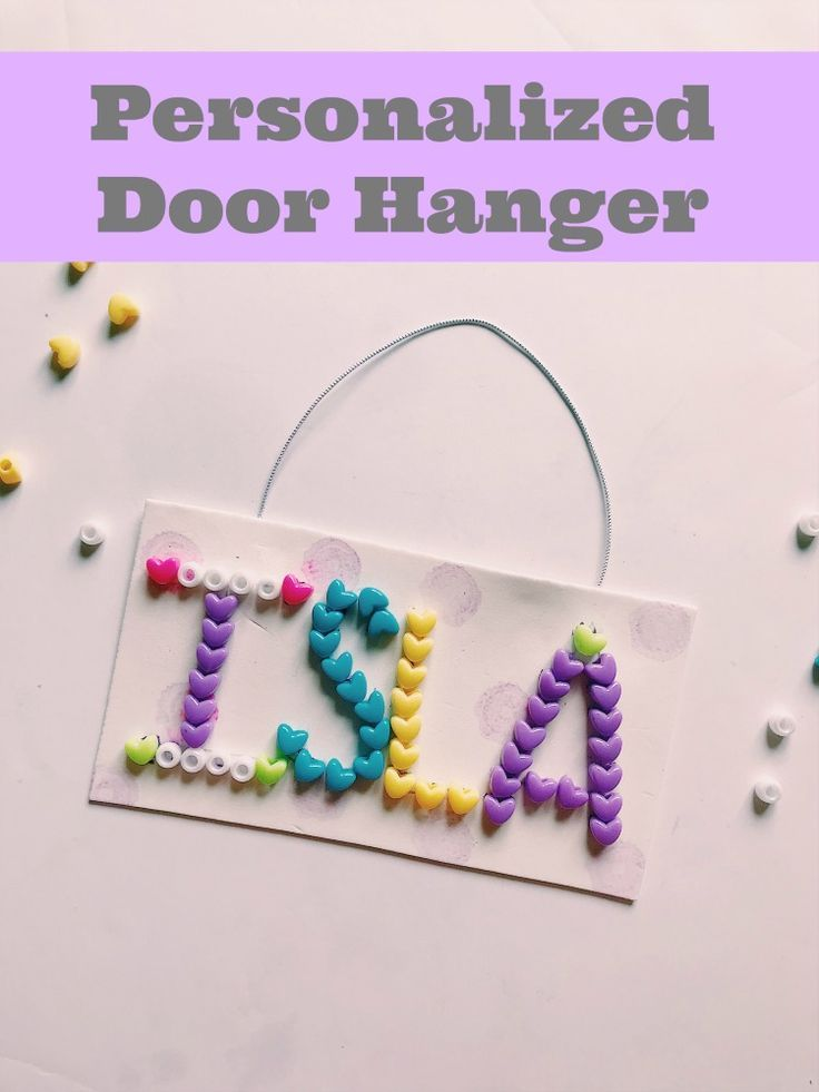 How To Make Personalized Kids Door Signs Crafts For Kids