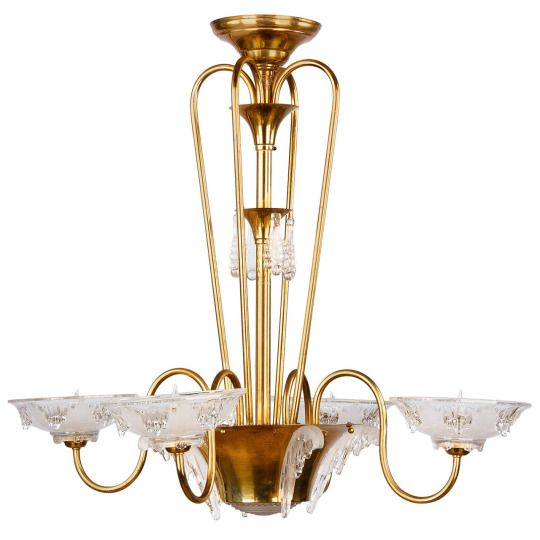 French art deco icicle glass chandelier by ezan 1930s master french art deco icicle glass chandelier by ezan 1930s master glassmaker ezan did mozeypictures Images