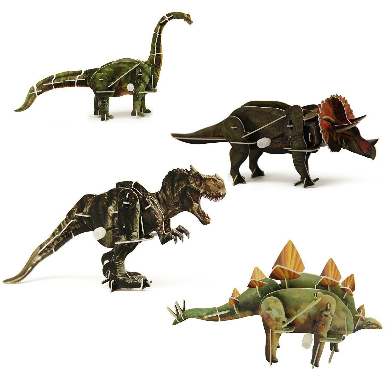 3D Windup Dinosaur Puzzlesset of 4 Dinosaur, Puzzle set