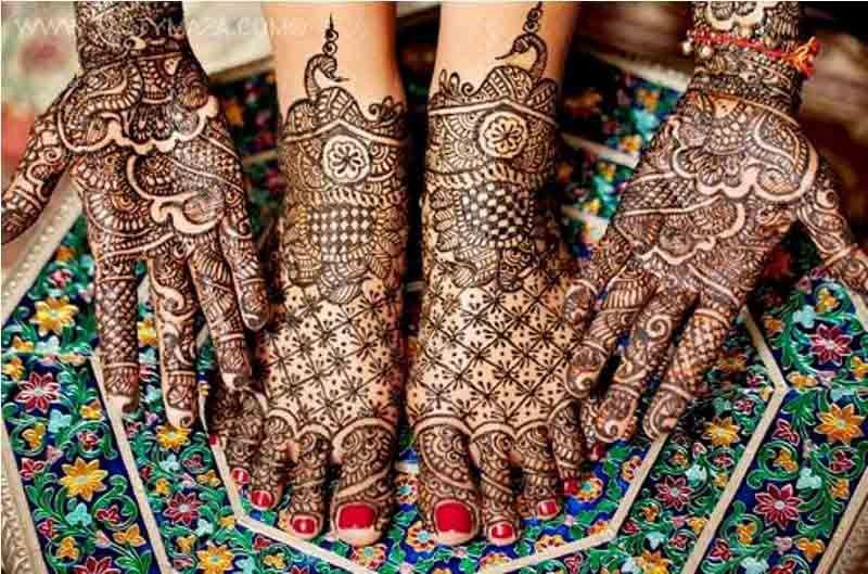 Mehndi Designs For Feet Bridal : Popular arabic henna bridal designs aribic design for