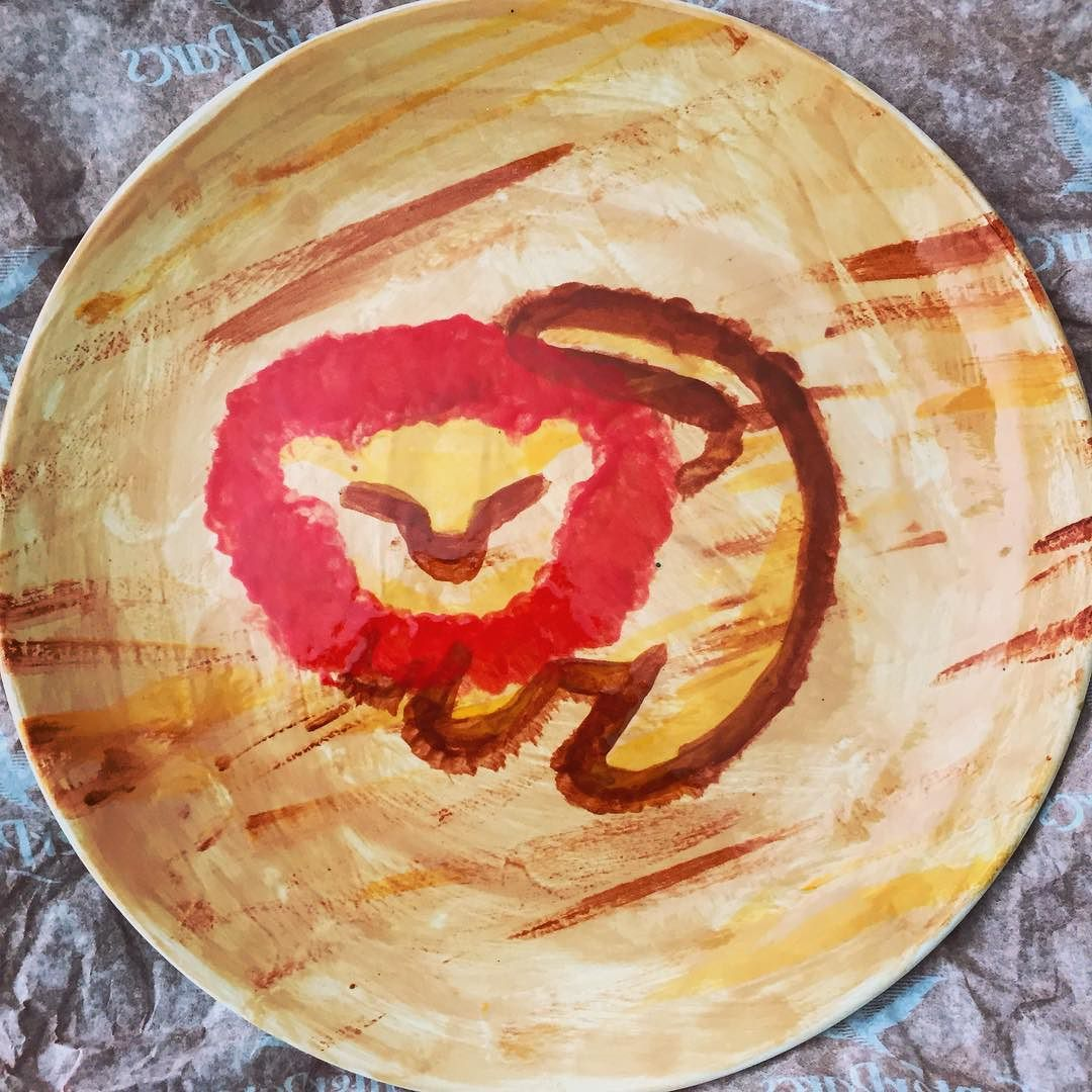 Painted Another Lionking Plate Simba Painting Ceramics Rafiki Drawing Disney By Na