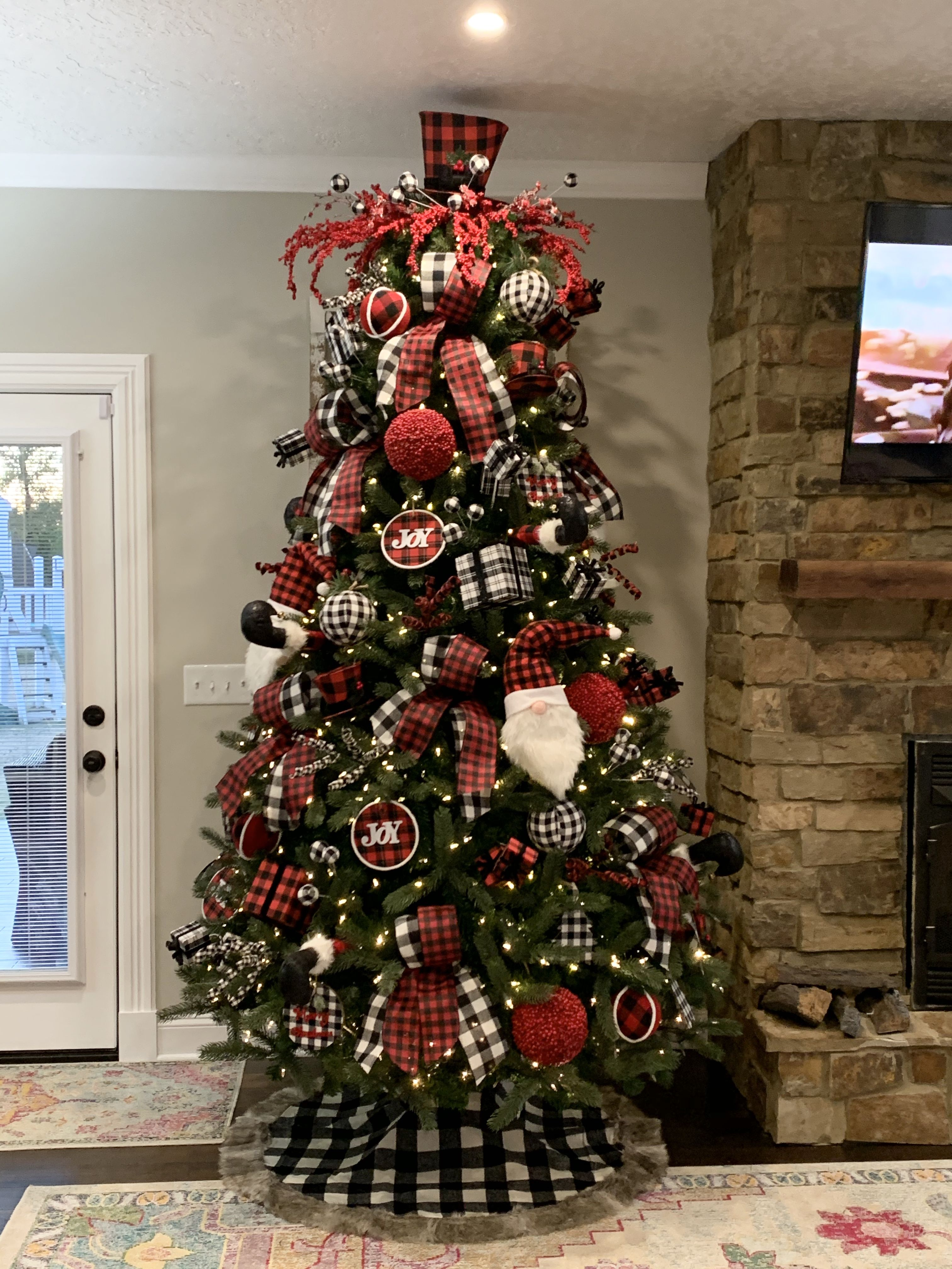 Buffalo Plaid Check Christmas Tree Cool Christmas Trees Buffalo Check Christmas Decor Plaid Christmas Decor
