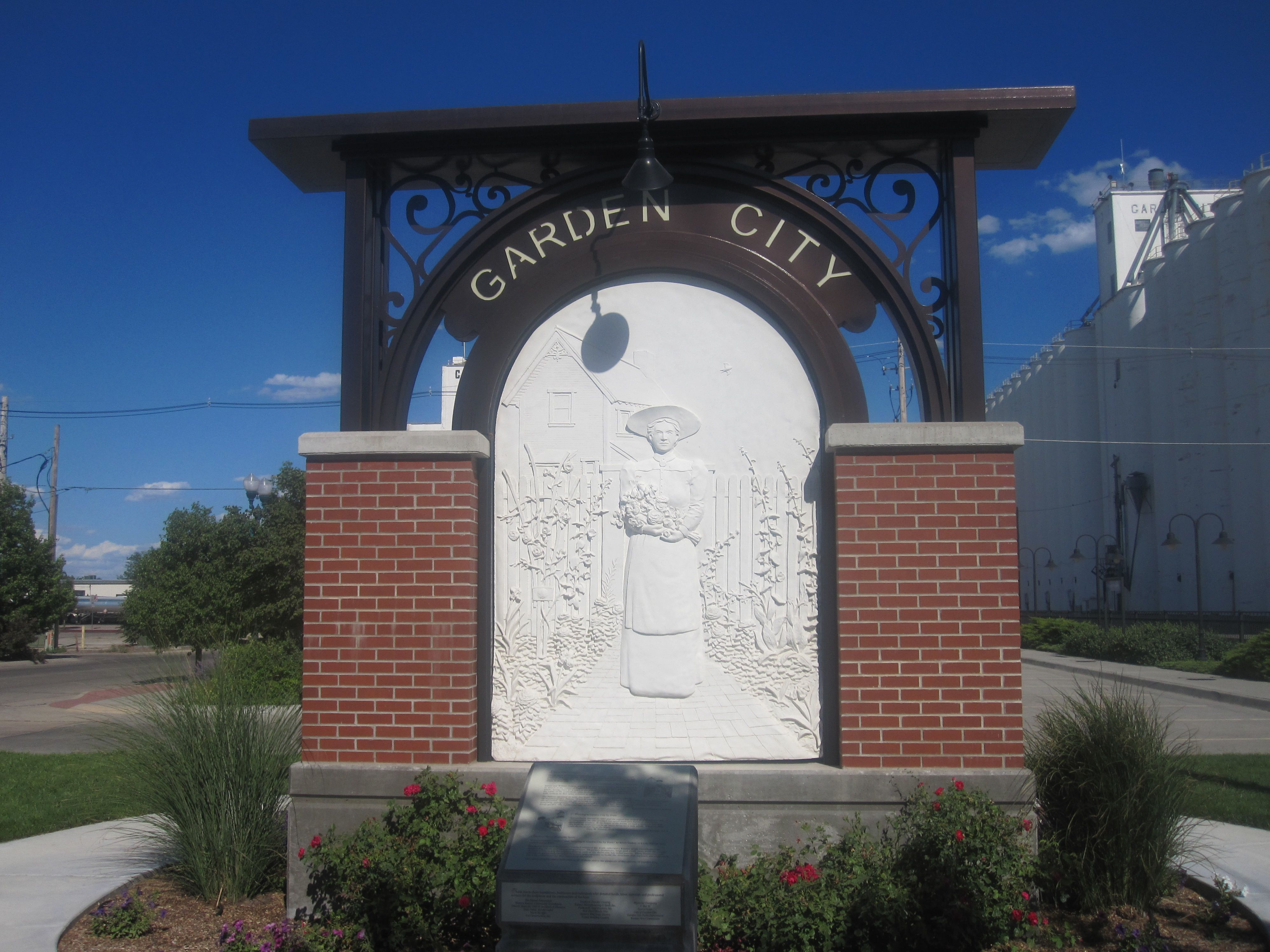 Welcome Sign Garden City City Dodge City Kansas