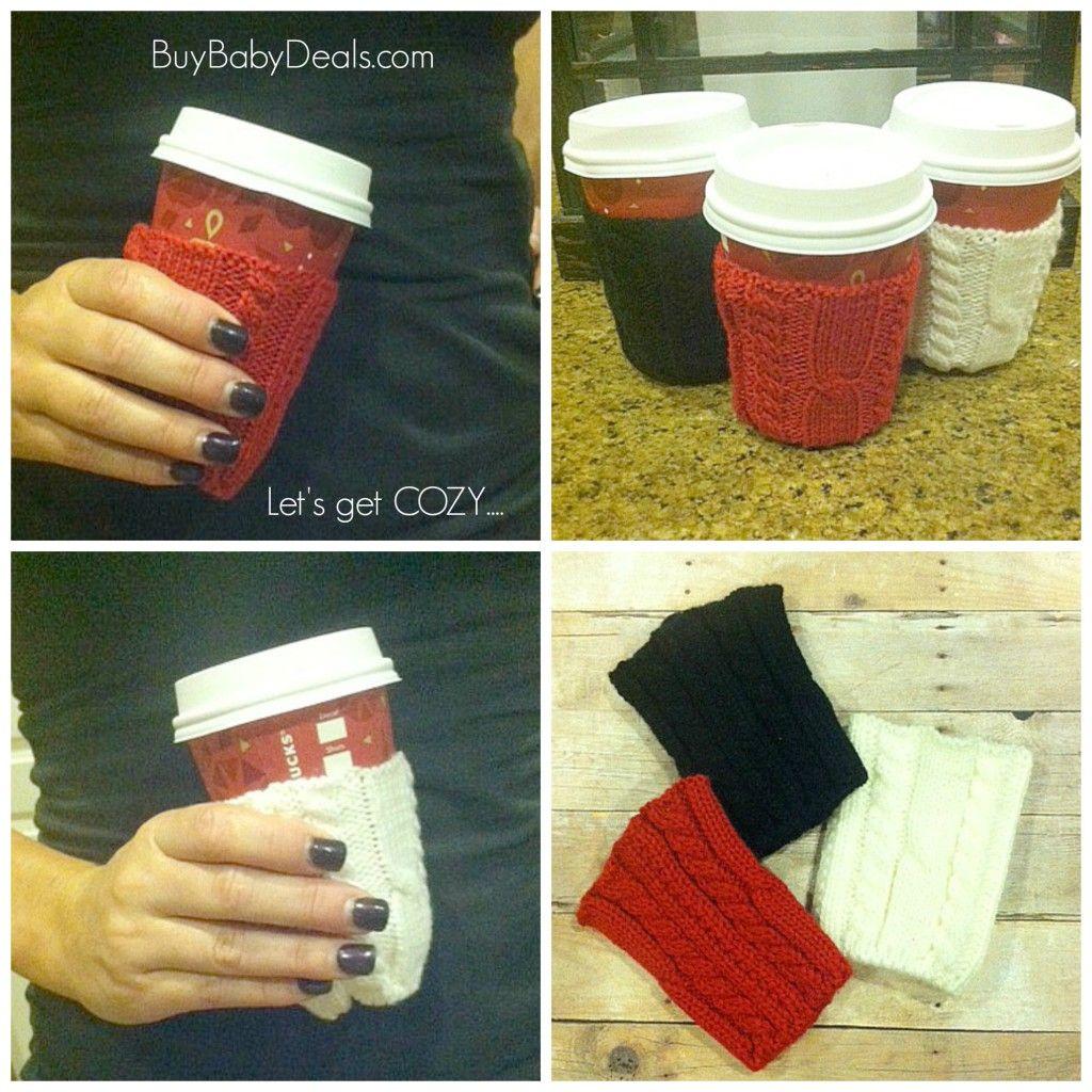 Let's get cozy! $4.95 coffee cozy sweaters! #coffeecozy #coffeesweater #coffee #dailydeals