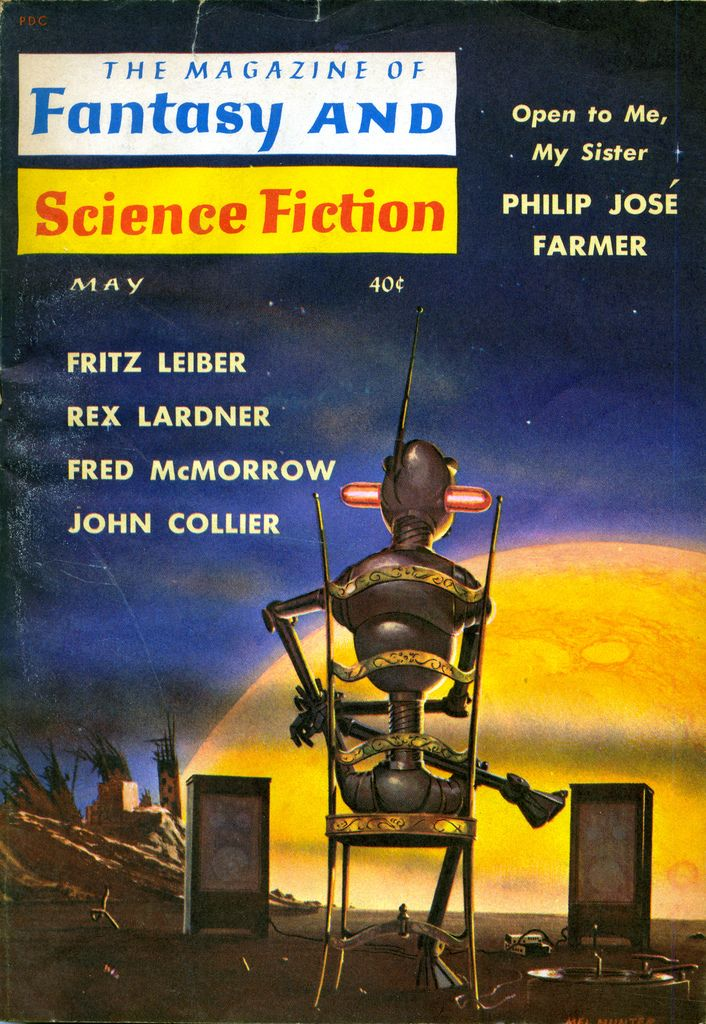 The Magazine of Fantasy and Science Fiction, May 1960 | cover art by Mel Hunter
