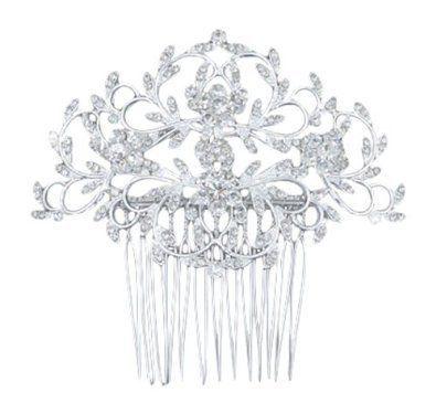 Silber Art Deco Braut Kristall Strass Blumen Blume Hochzeit Abschlussball Haarsp #braut #BrautFrisuren #brautblume