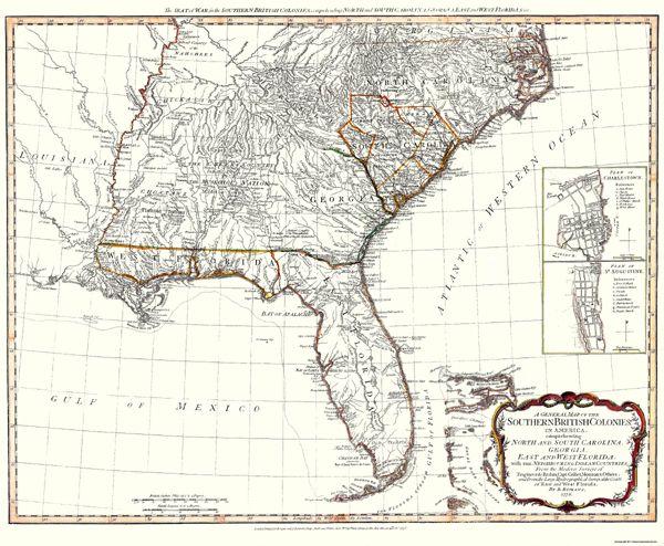 Map Of Florida Georgia South Carolina.West Florida East Florida Georgia South Carolina North Carolina