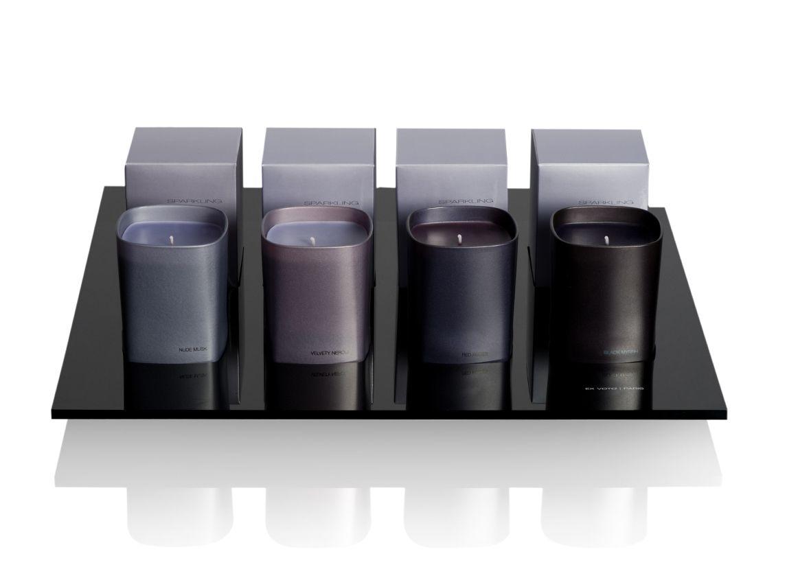Ex Voto, Sparkling purple collection_ Nude Musk, Velvety Neroli, Red Amber, Black Myrrh candles _