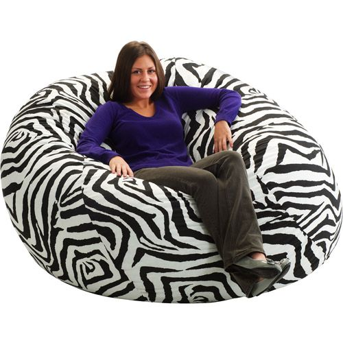 King Fuf Bean Bag Chair Zebra NOTE Please Allow Weeks Delivery Due To Popularity