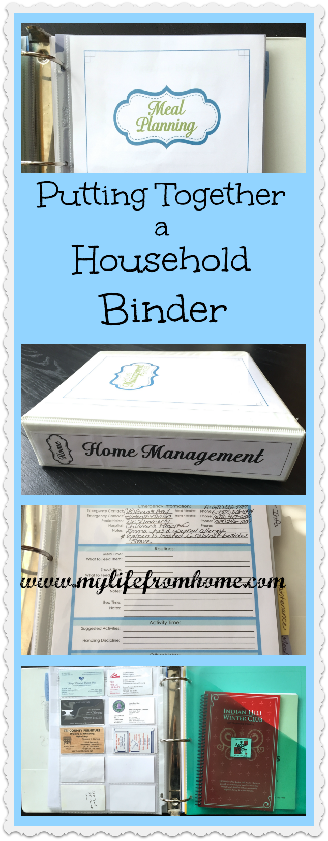 Together a Household Organization Binder Need help organizing your household? All you need to know about putting together a household binder! |  | paper organization | organizing files | household paperwork | filing systemNeed help organizing your household? All you need to know about putting together a household binder! |  | paper organi...