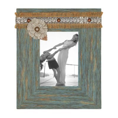 Aqua Distressed Sadie Picture Frame, 5x7 | Kirklands
