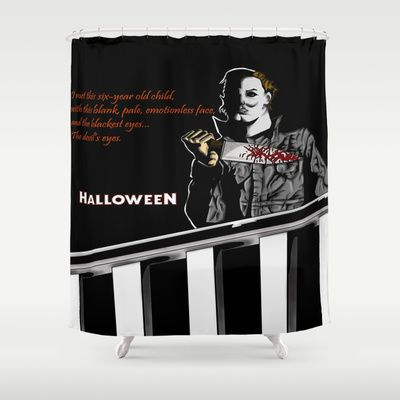 Michael Myers From Halloween With Quote Shower Curtain By Crypt Rotted Bones