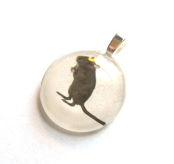 Black Gerbil Rodent Cute Mini Pendant by SovereignSea on Etsy, $6.00