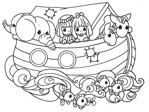 Noah\'s ark coloring pages – precious moments | Adult Coloring ...
