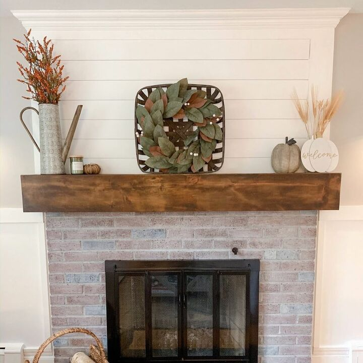 Diy farmhouse fireplace makeover on a budget diy