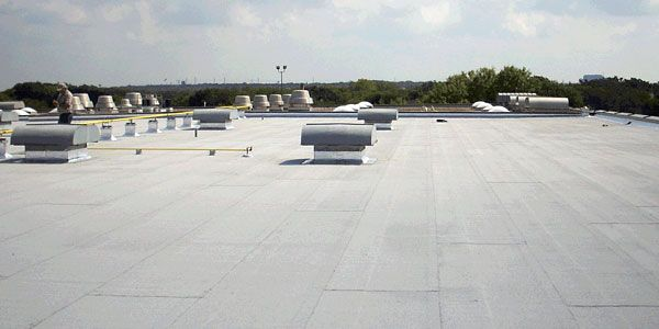 Modified Bitumen Roof Systems Modified Bitumen Roof Membranes Are Made From Either App Plastic Modified Bitumen Roofing Roofing Systems Commercial Roofing