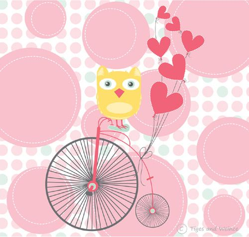 owl on a bike by Kylie Loy