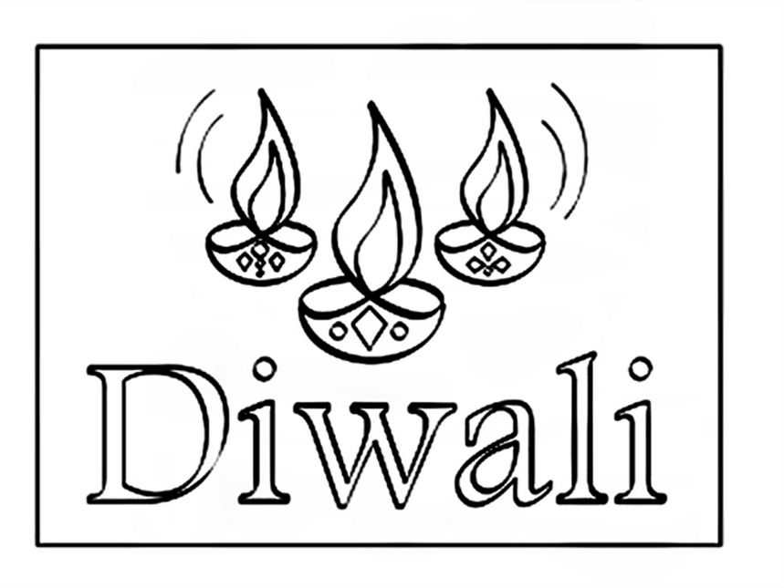 Biggest Collection Of Beautiful Happy Diwali Coloring Pages