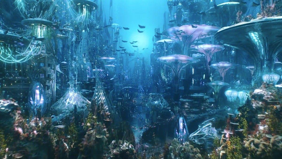 "justiceleague: ""The Seven Kingdoms of Atlantis in Aquaman "" Aquaman Film, Aquaman 2018, Atlantis, Fiction Movies, Science Fiction, Aquaman Wallpaper, Justice League Aquaman, Underwater City, Anime Gifs"