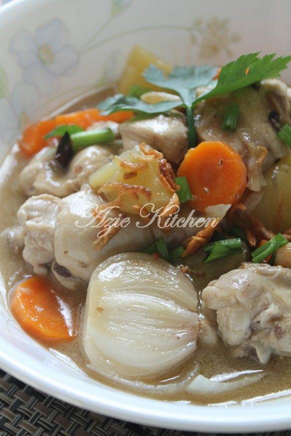 Azie Kitchen Stew Ayam Cara Tengku Puan Pahang Malay Food Beef Dishes Asian