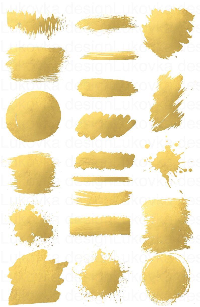 Gold Brush Strokes Gold Clipart Gold Foil Clipart Gold Splash Gold Brush Clipart Gold Foil Brush Gold Paint Gold Splotches Gold Splashes Gold Clipart Golden Painting Clip Art