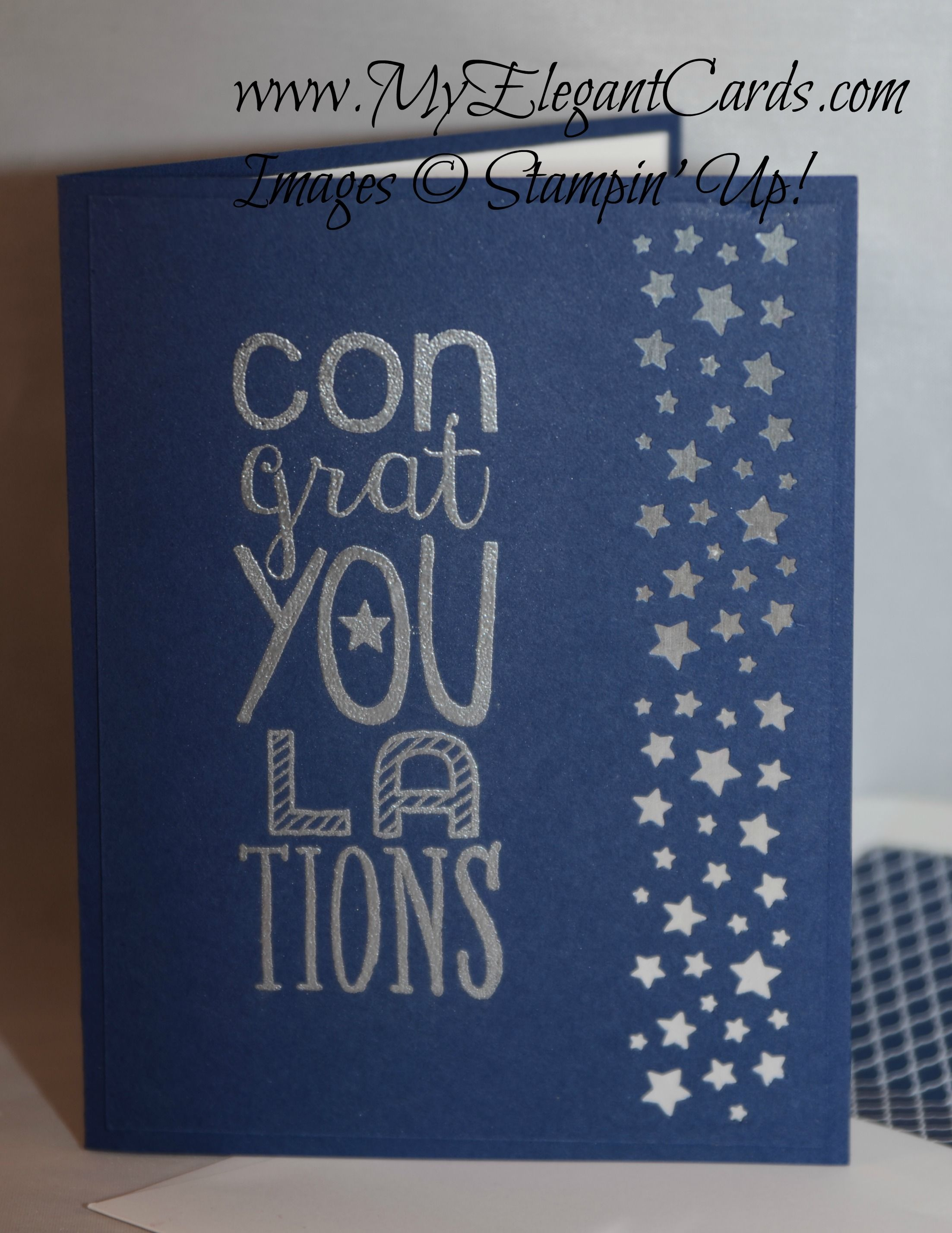 Hand Crafted Congrats Card Stampin Up Bravo And Confetti Stars