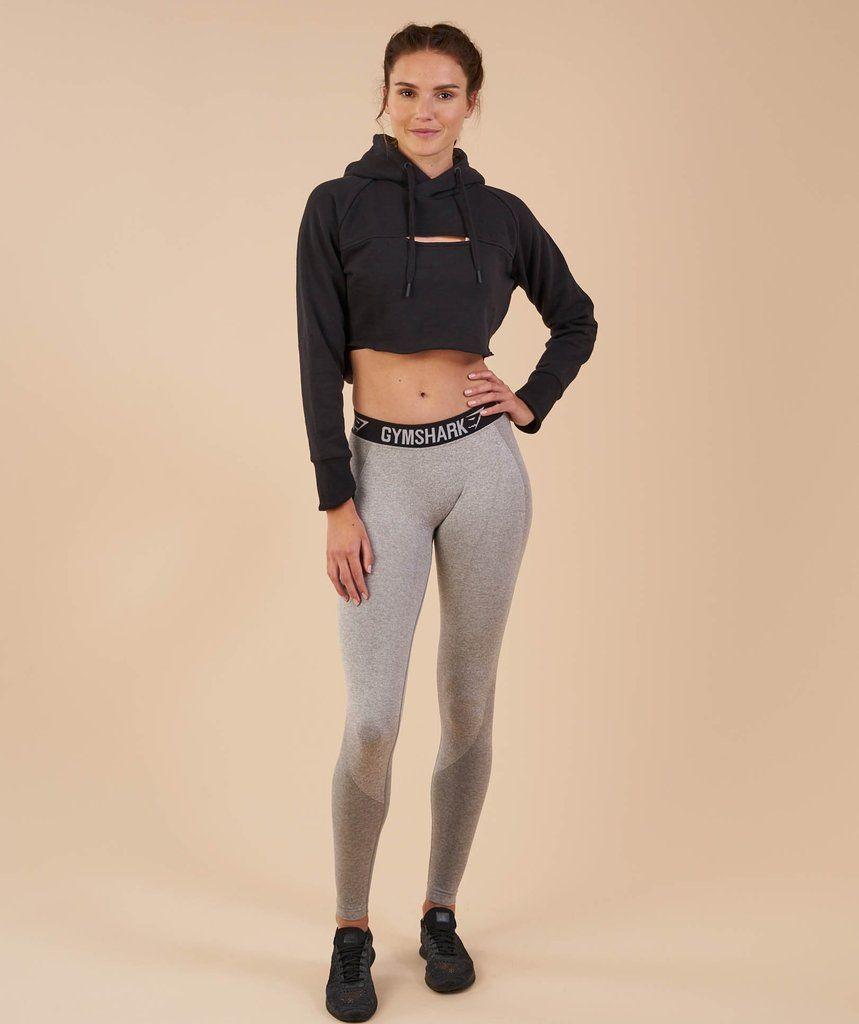 51ba9be7 Gymshark Cropped Raw Edge Hoodie - Black | • tlc • | Flex leggings ...