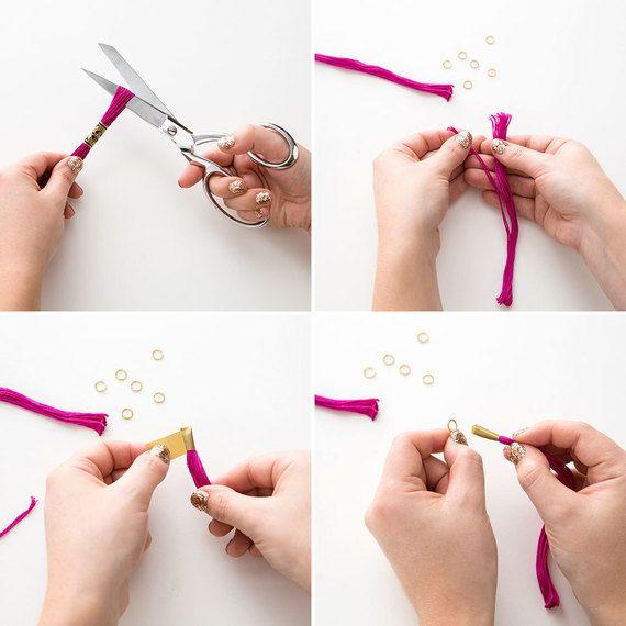como fazer colares com linhas de bordar - Pesquisa Google