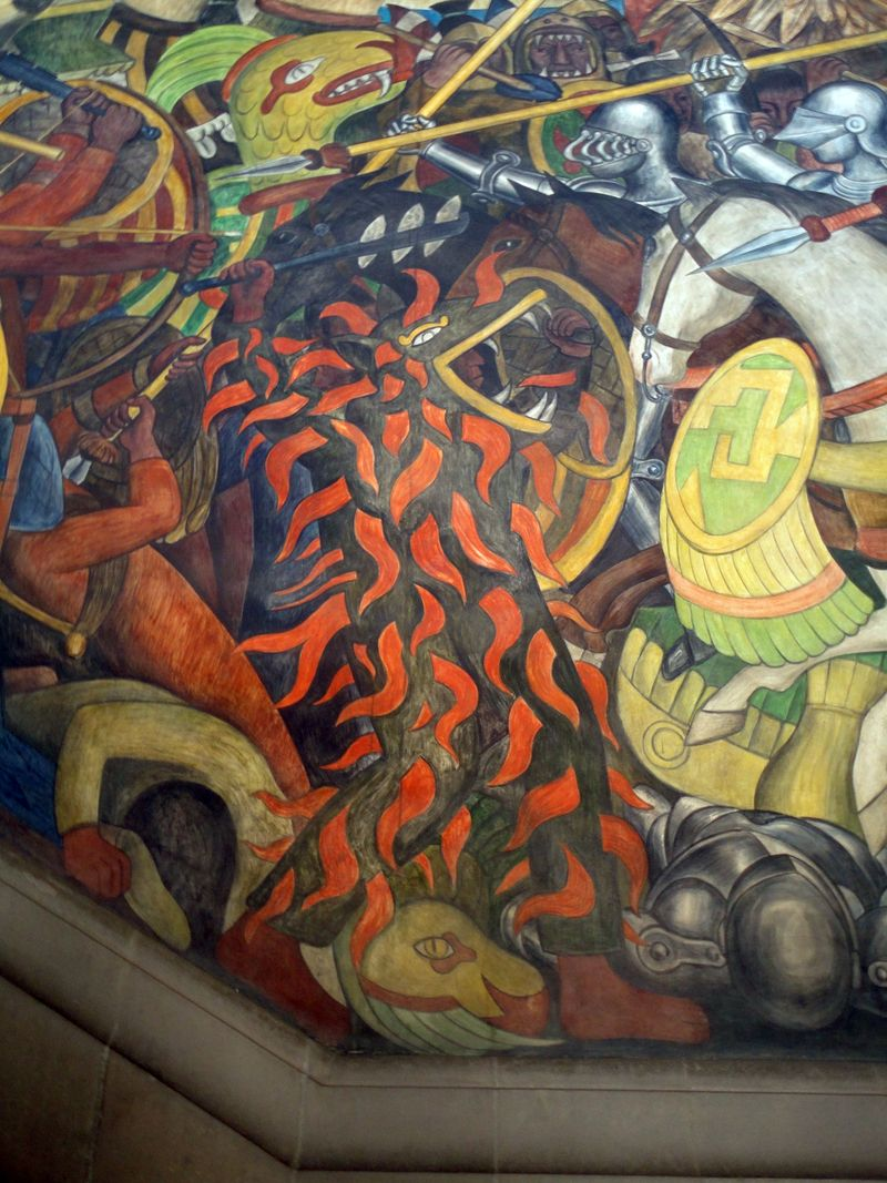 Murals At Palacio Nacional Mexico City Detail Diego Rivera