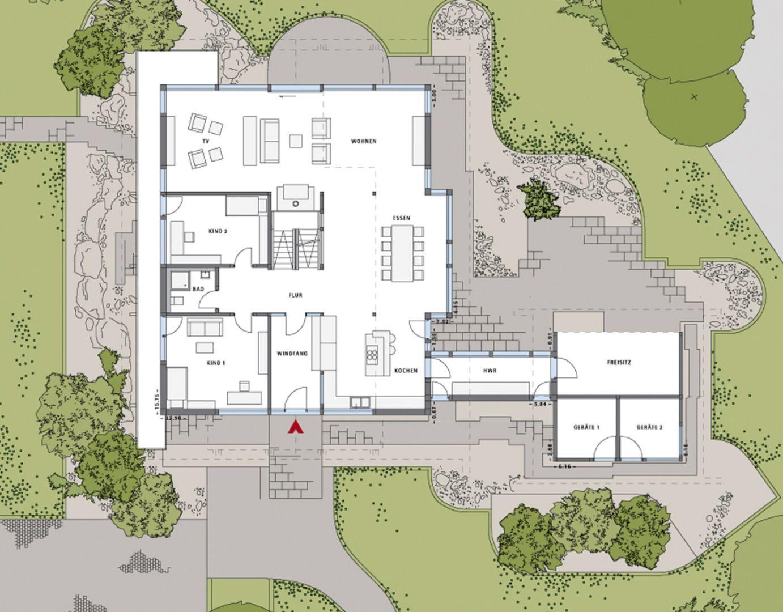 Voorbeeldproject ART 5 HUF HAUS Architektur haus