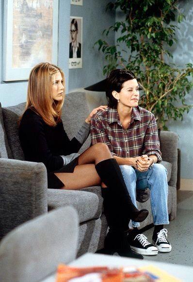 Jennifer Aniston Crossed Legs In A Short Skirt Black