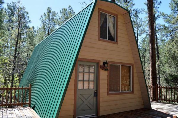 Tiny A-frame Cabin on .44 Acres For Sale in Arizona | Cabin, Acre ...