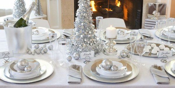 Christmas Table Ideas Silver.Winter Wonderland Decorations Table Decoration Ideas Silver