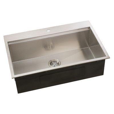 Lenova Ledge Series 31 L X 10 W Undermount Kitchen Sink Top