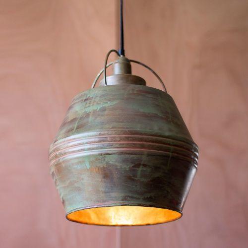 kalalou pendant no 10 copper verdigris pendant lights at hayneedle