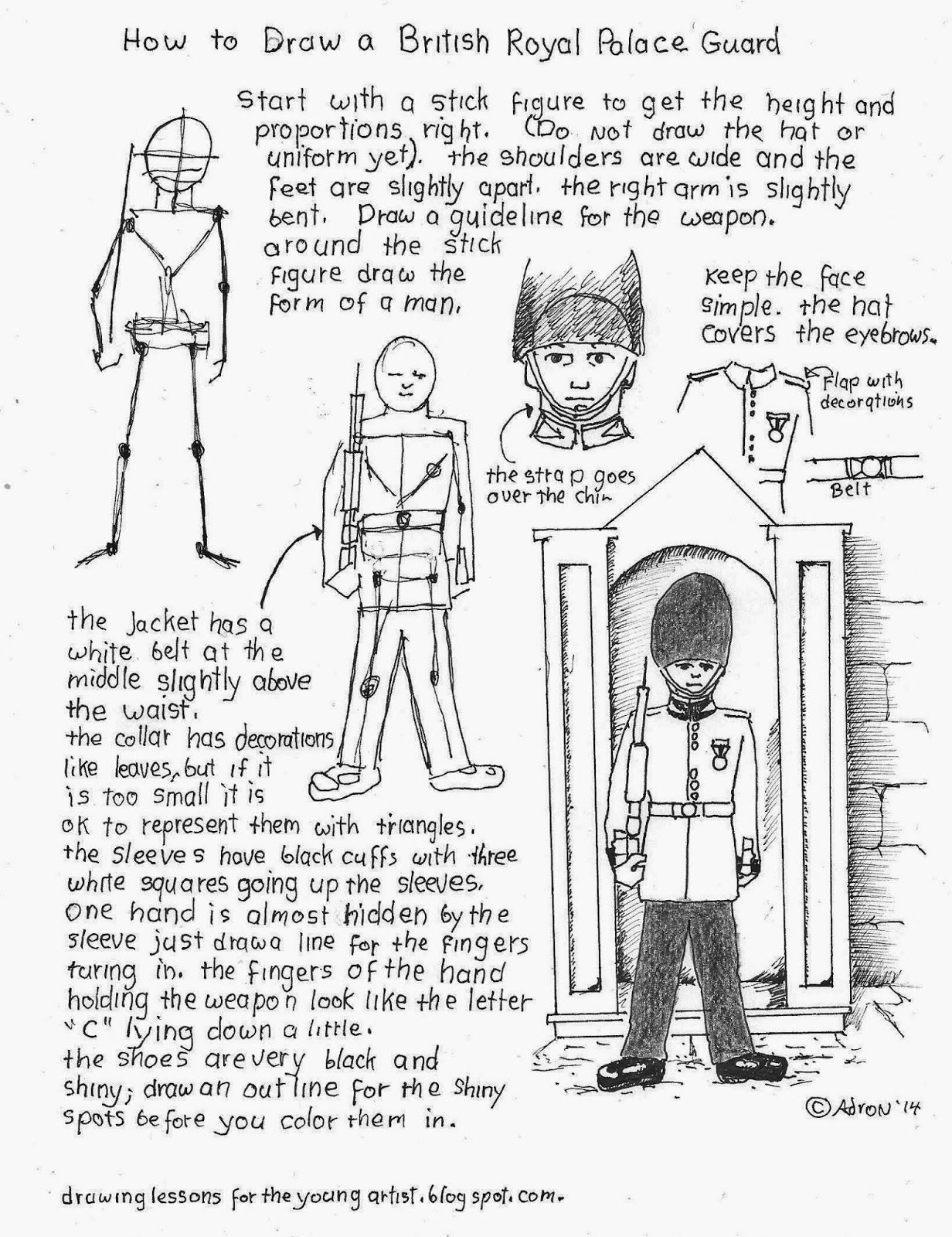 How To Draw A British Royal Palace Guard How To Draw
