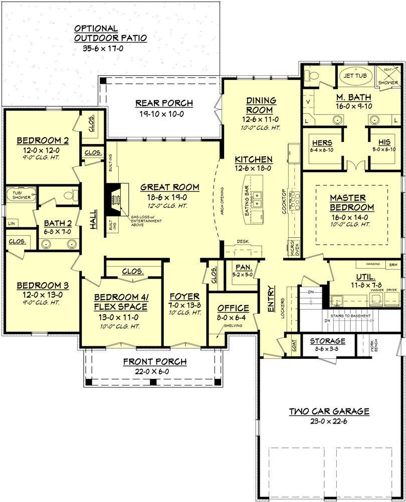 Searching For A Large Open Floor House Plan With An Acadian Design The Gatlin Plan From House Plan Acadian House Plans Open Floor House Plans New House Plans