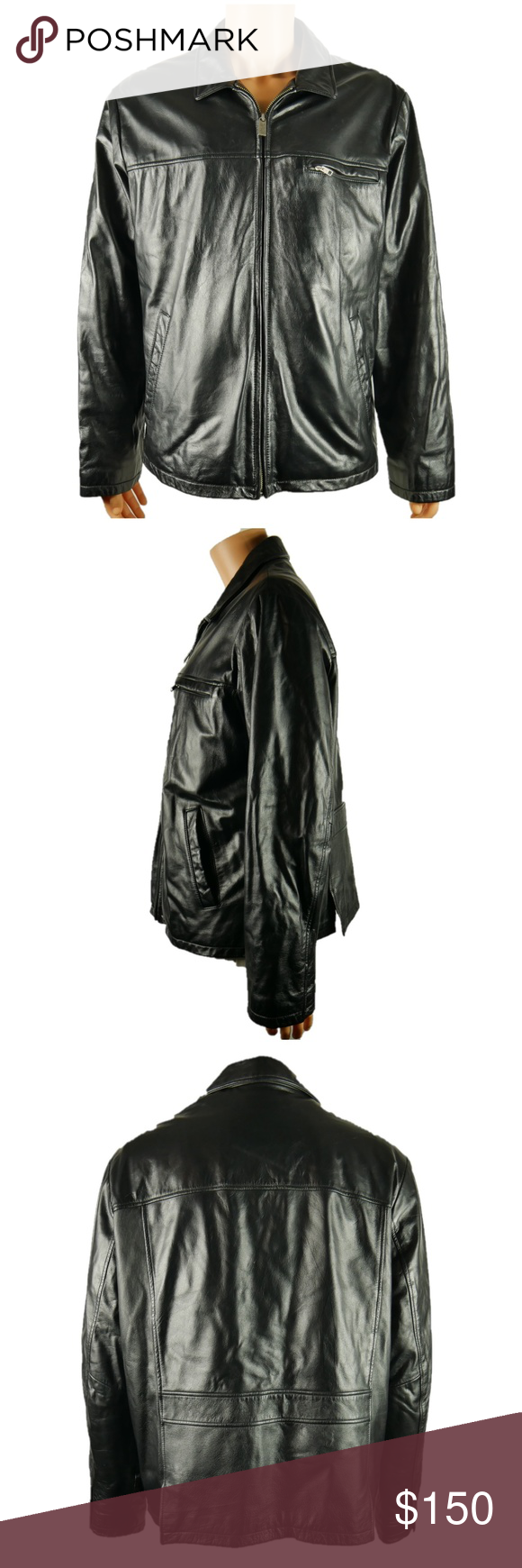 Wilsons Leather Jacket Coat Thinsulate Lined XL in 2020