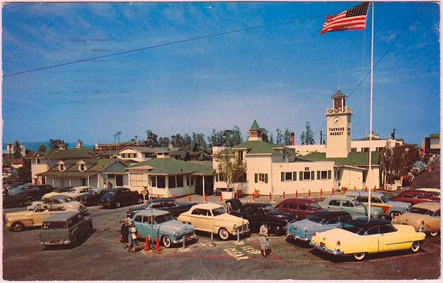 Farmers Market 1950s  Los Angeles Area  Pinterest  Los