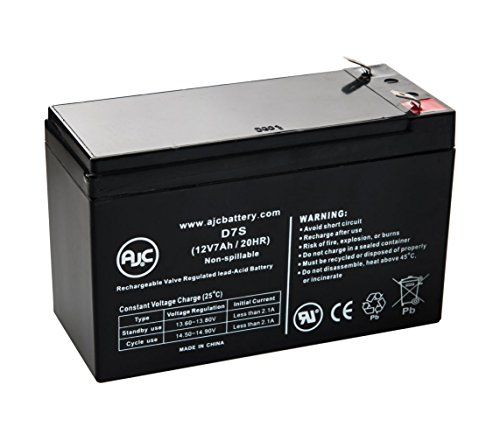 Ce Produit est Un Article de Remplacement de la Marque AJC/® Batterie APC Back-UPS ES 550 8 Outlet 550VA BE550R 12V 7Ah UPS
