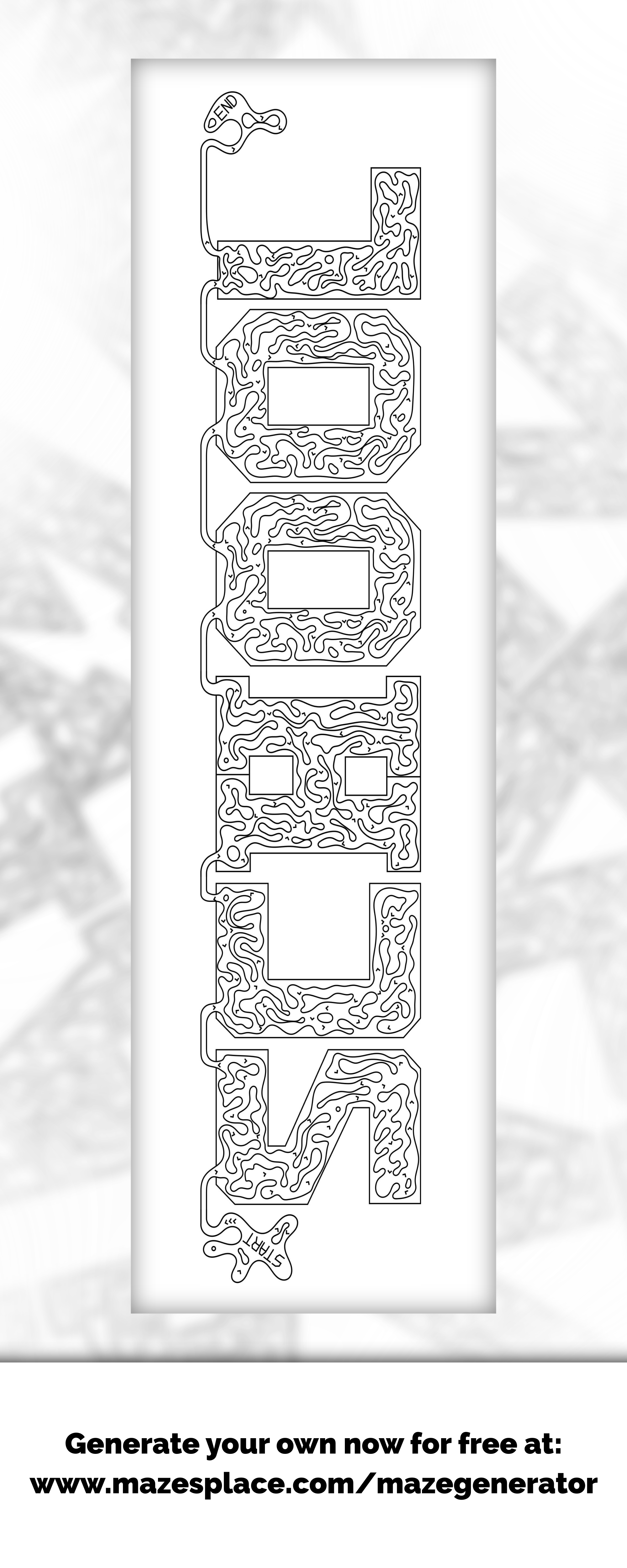 School Maze Create Your Own For Free With Any Words