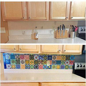 Best Mexican Terracotta Tile Wall Stair Stickers Removable 400 x 300