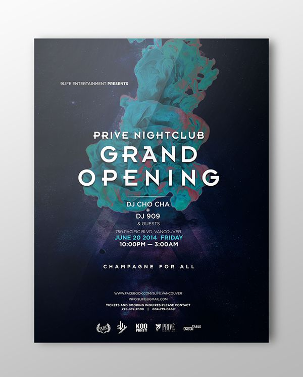 Image Result For Grand Opening Poster Night Club  Grand Opening