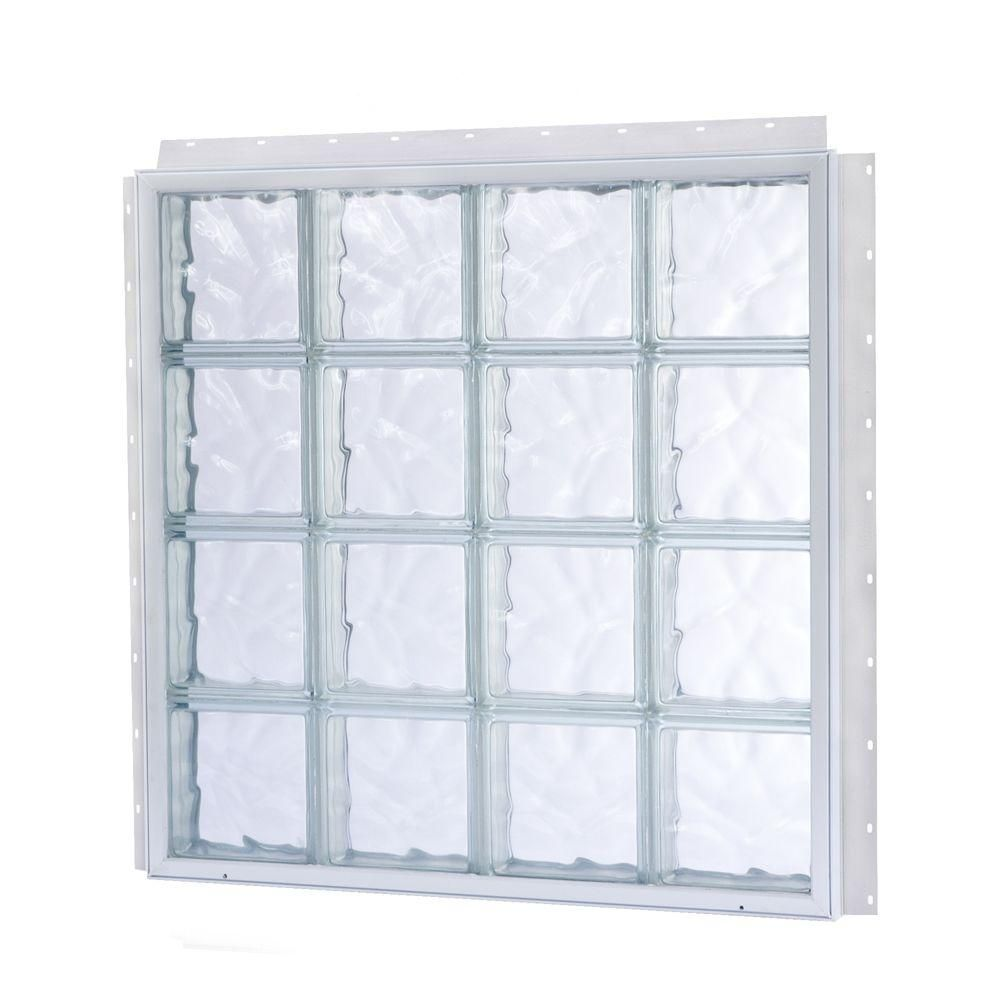 15 875 In X 15 875 In Nailup2 Wave Pattern Solid Glass Block Window Glass Block Windows Glass Block Shower Window Glass Blocks