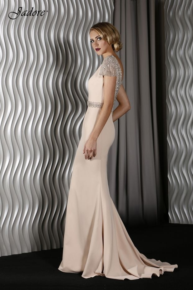 Perry Dress J9003 In Nude Navy Emerald White 6 24 Bride Dresses